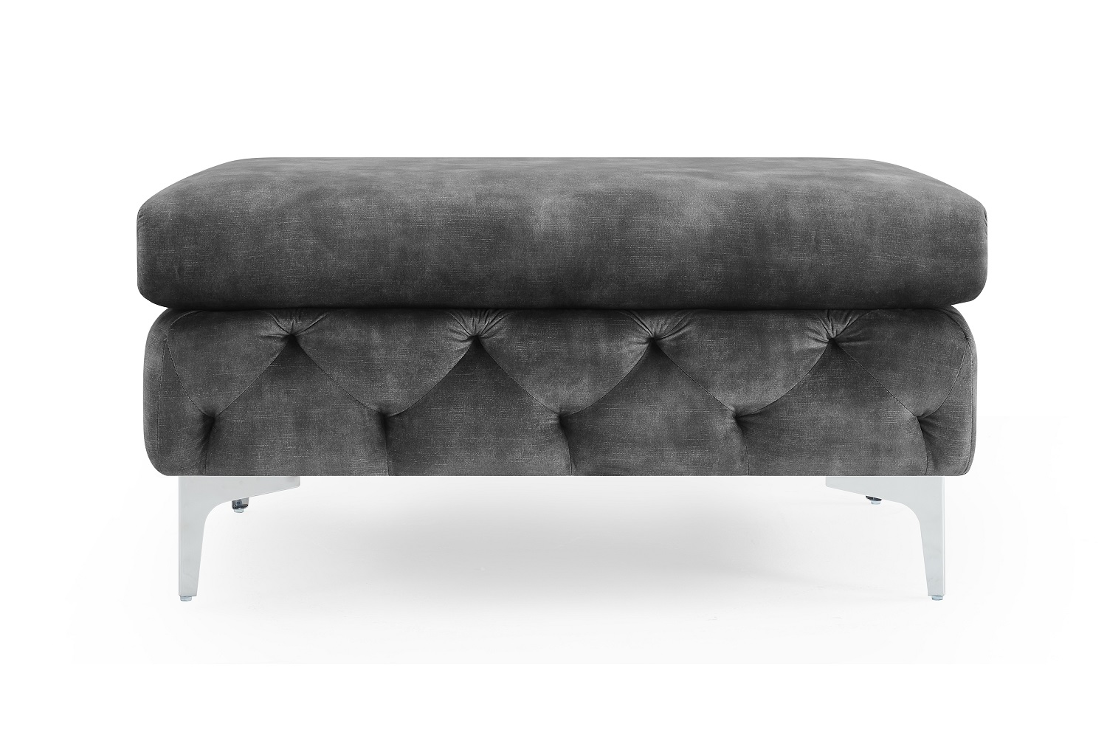 Designová taburetka Rococo tmavě šedá