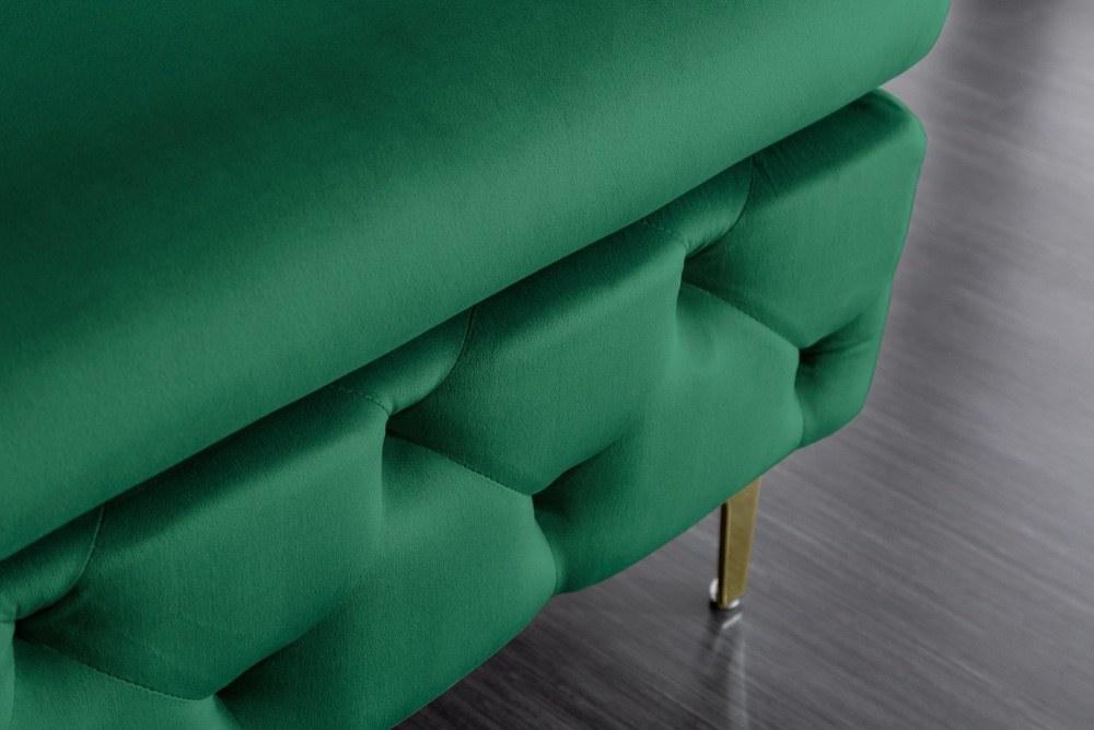Designová taburetka Rococo zelená / zlatá
