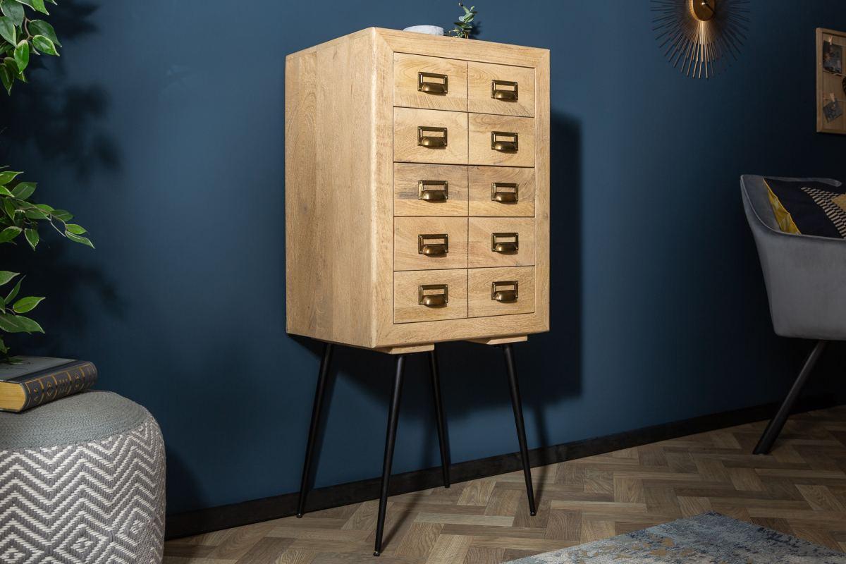 Designová zásuvková komoda Marilyn 116 cm mango