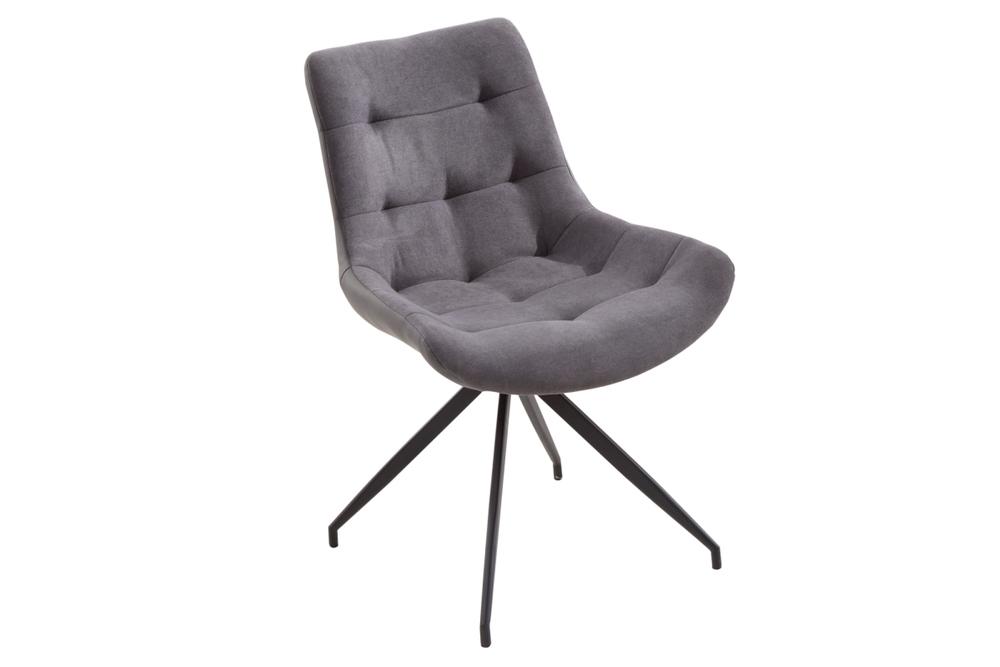 Designové židle Amiyah světle šedá-černá