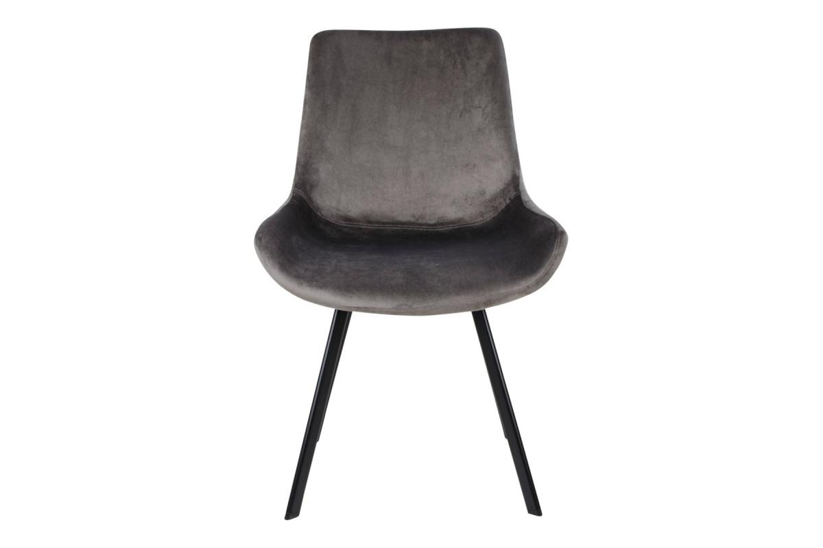 Designové židle Brinley šedý samet - Skladem (RP)
