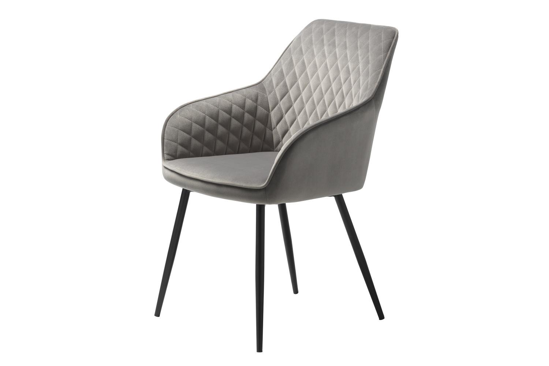 Designová židle Dana šedý samet