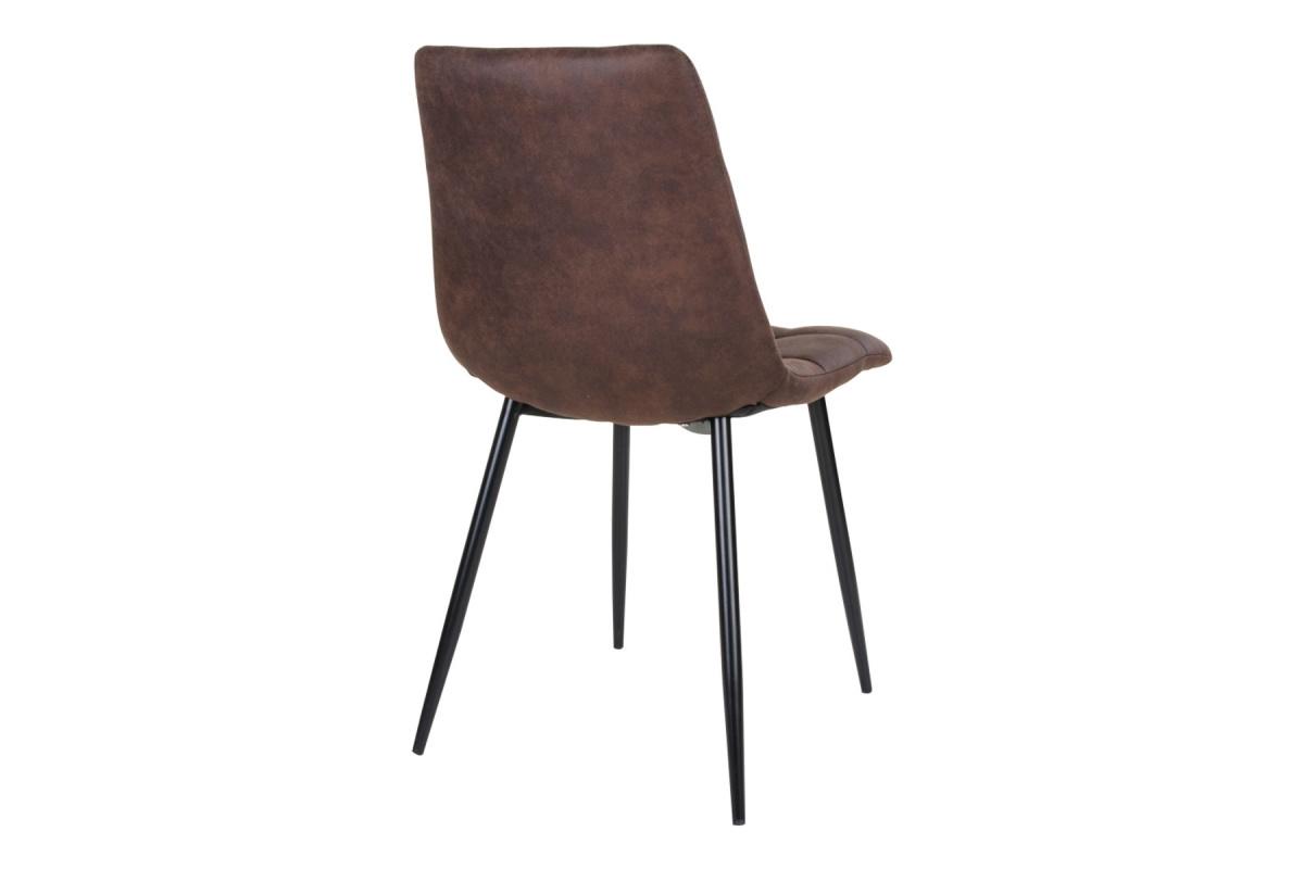 Designová židle Dominik tmavě hnědá