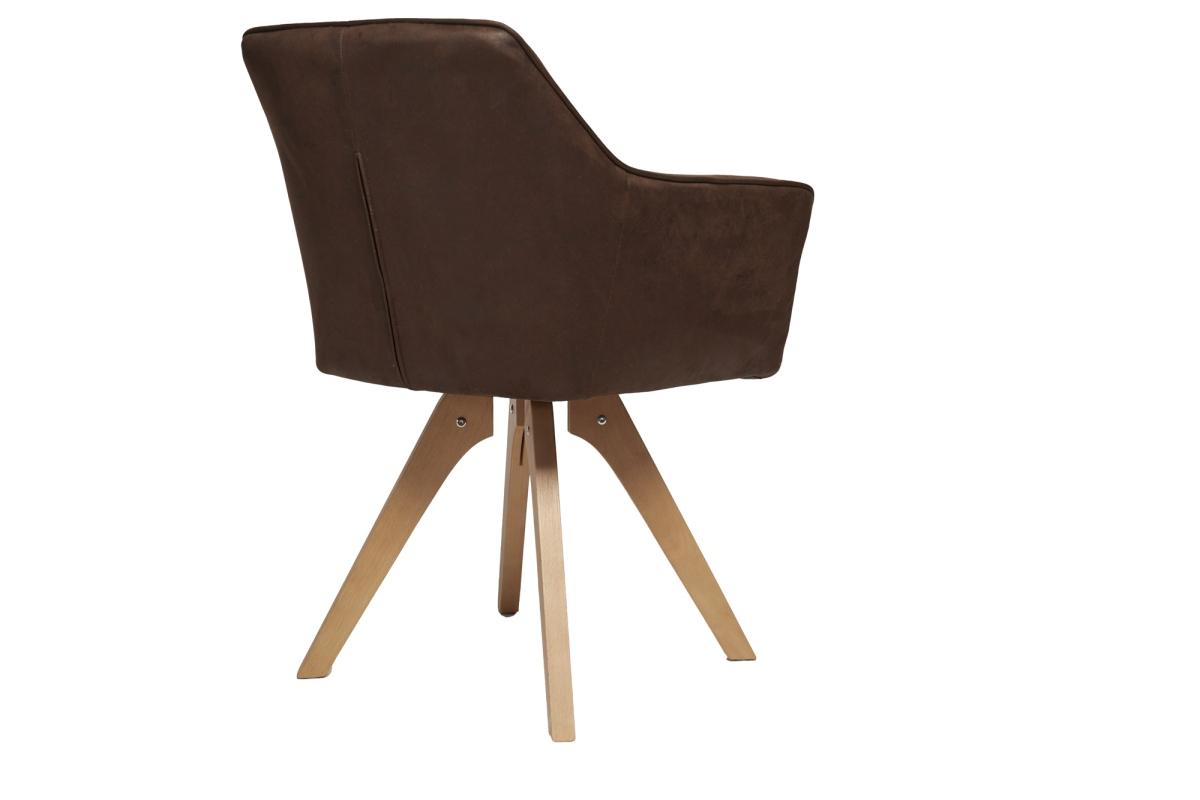 Designová židle Giuliana s područkami antik hnědá