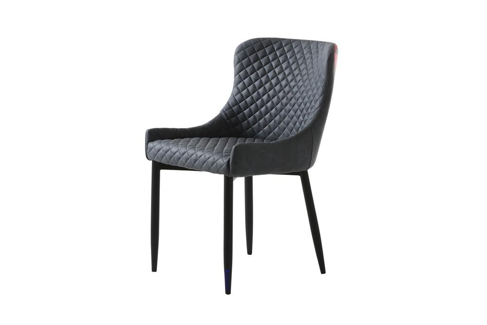 Designová židle Hallie šedá koženka