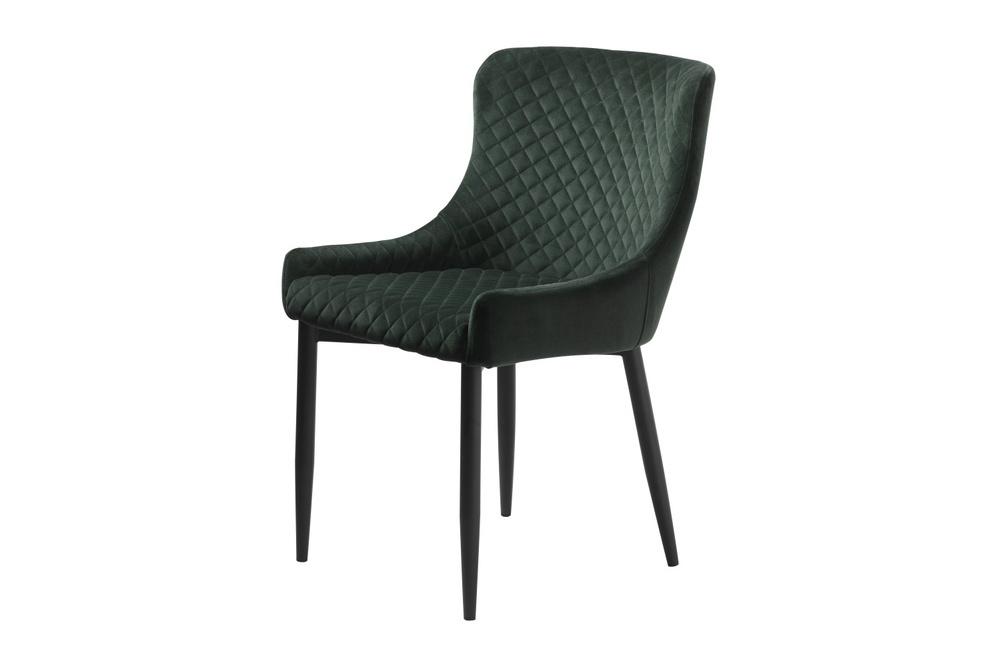 Designová židle Hallie zelený samet