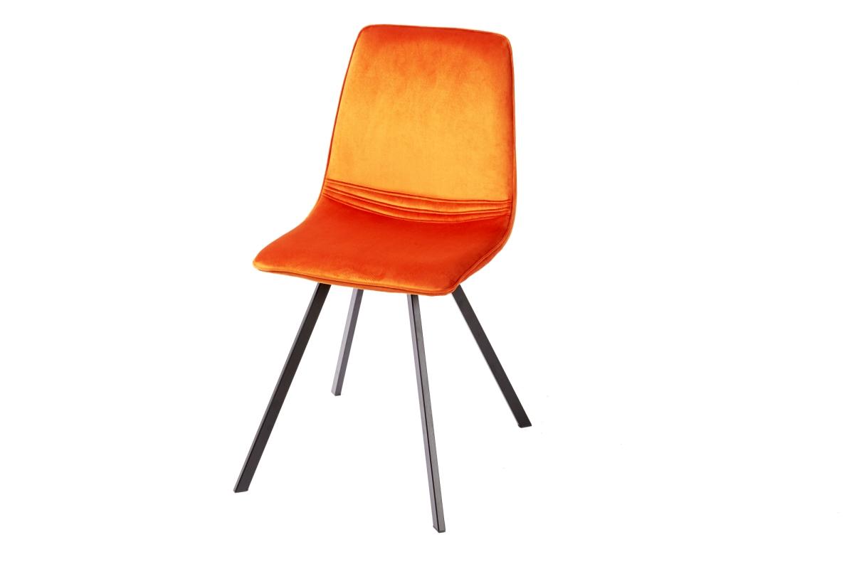 Designová židle Holland oranžový samet