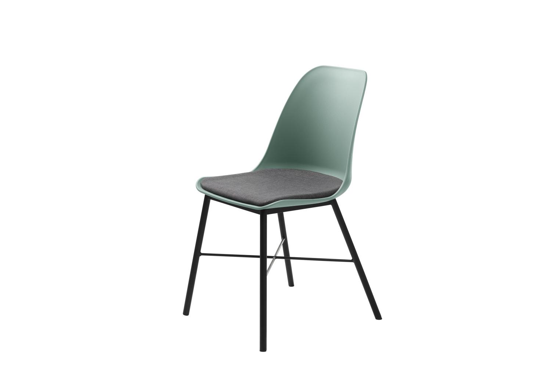 Designová židle Jeffery matná zelená