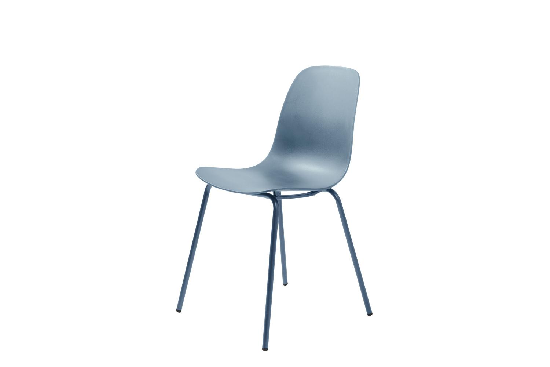 Designová židle Jensen matná modrá