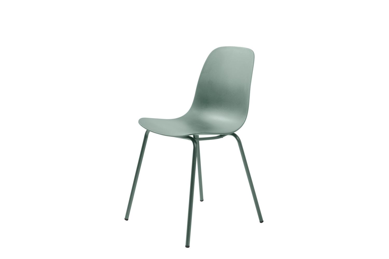 Designová židle Jensen matná zelená