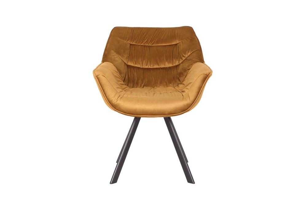 Designová židle Kiara hořčičný samet