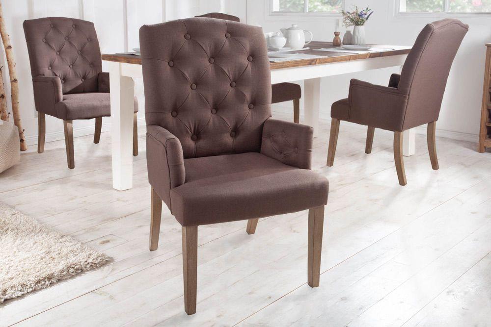 Designová židle s područkami Queen hnědá