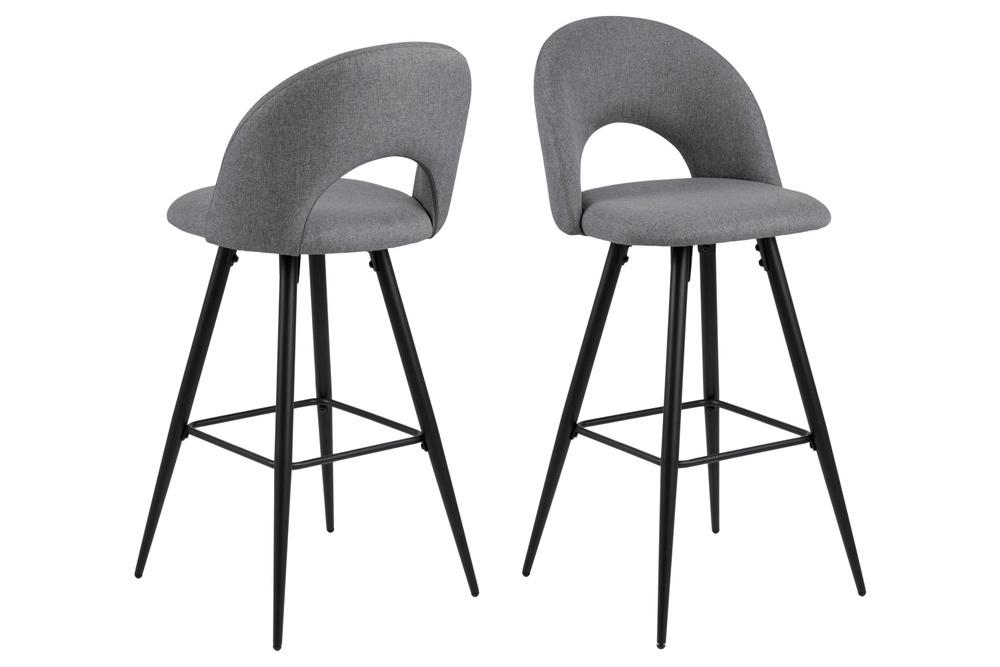 Designová barová židle Jaylene šedá
