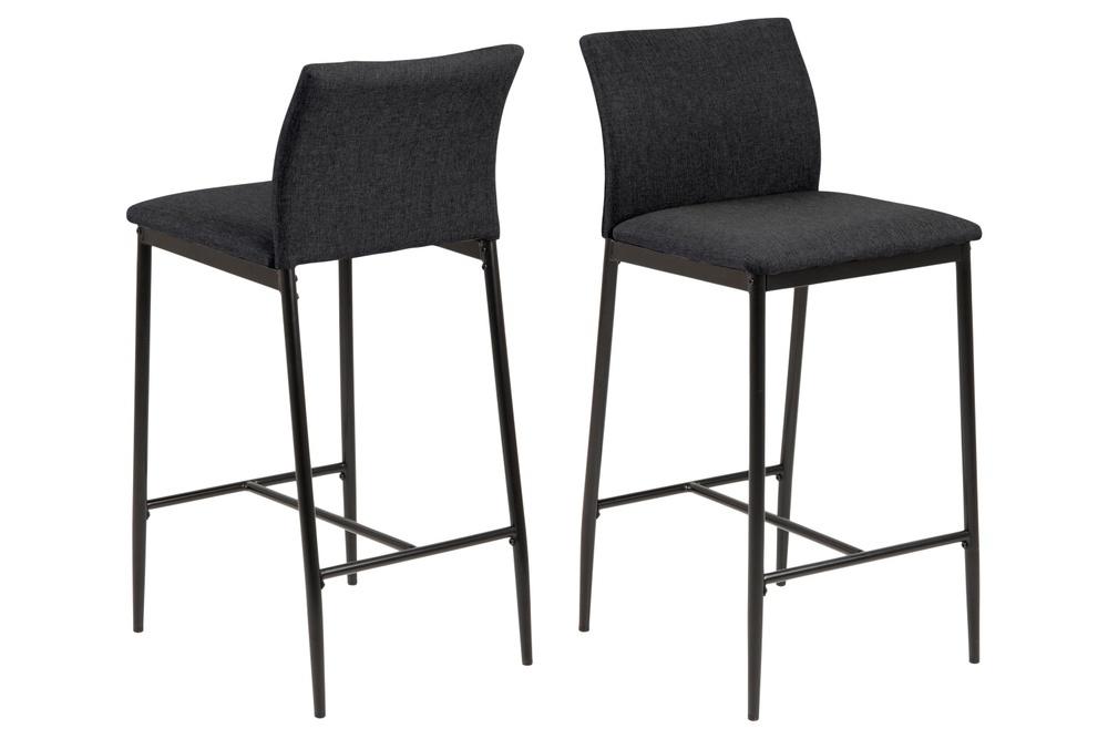 Designová barová židle Midena šedá