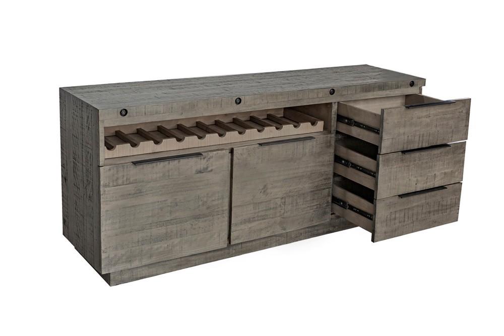Designová komoda Harlow 175 cm šedá - borovice
