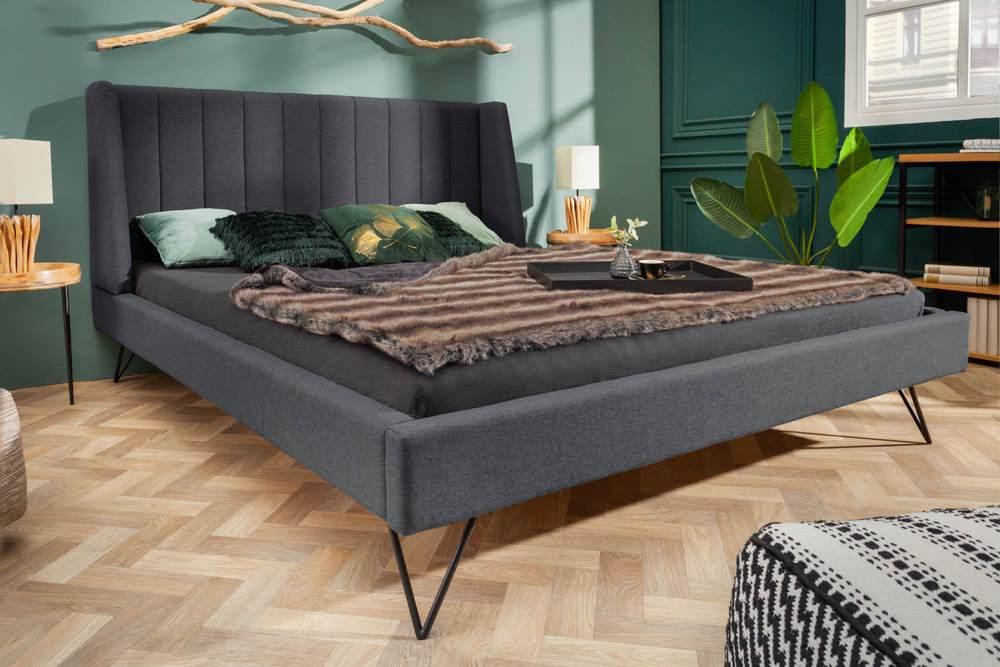 Designová postel Phoenix 160 x 200 cm antracit