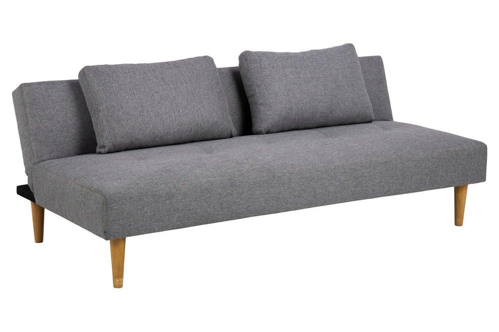 Designová rozkládací sedačka Amya 180 cm šedá - dub