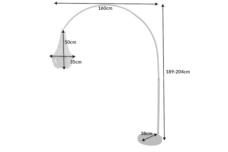 Designová stojanová lampa Kingdom 189 - 204 cm stříbrná