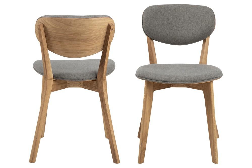 Designová židle Aidyn šedá - přírodní - II. třída (SB)