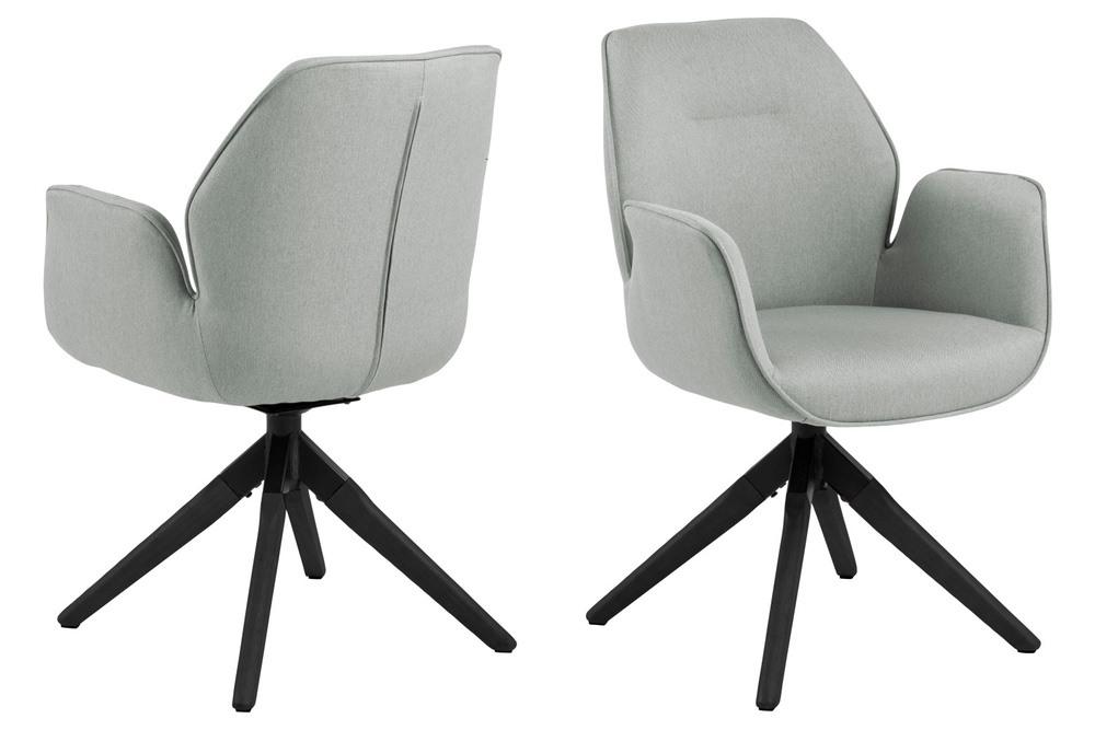 Designová židle Ariella světle šedá - černá