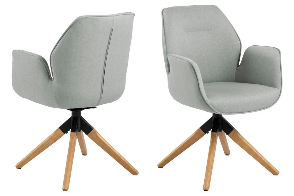 Designová židle Ariella světle šedá - přírodní
