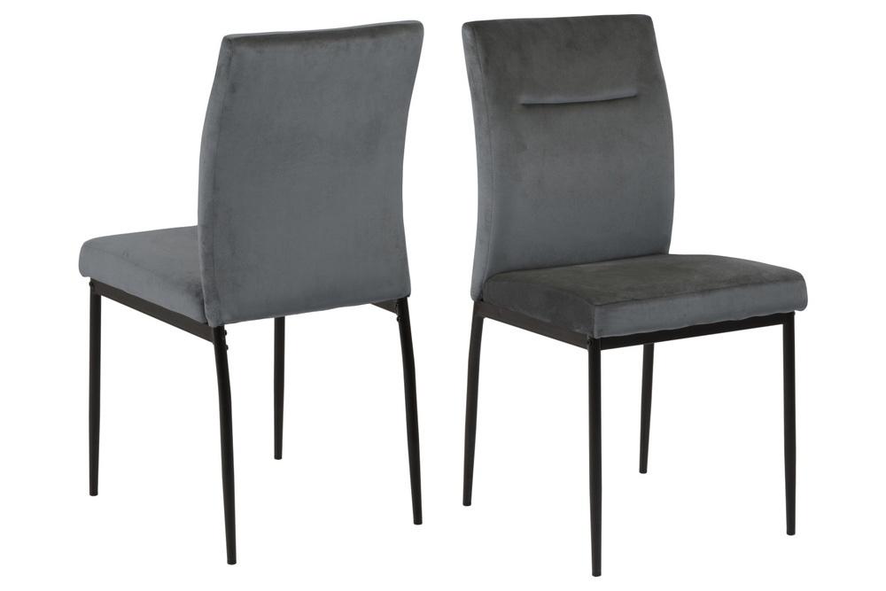 Designová židle Kassandra tmavě šedá
