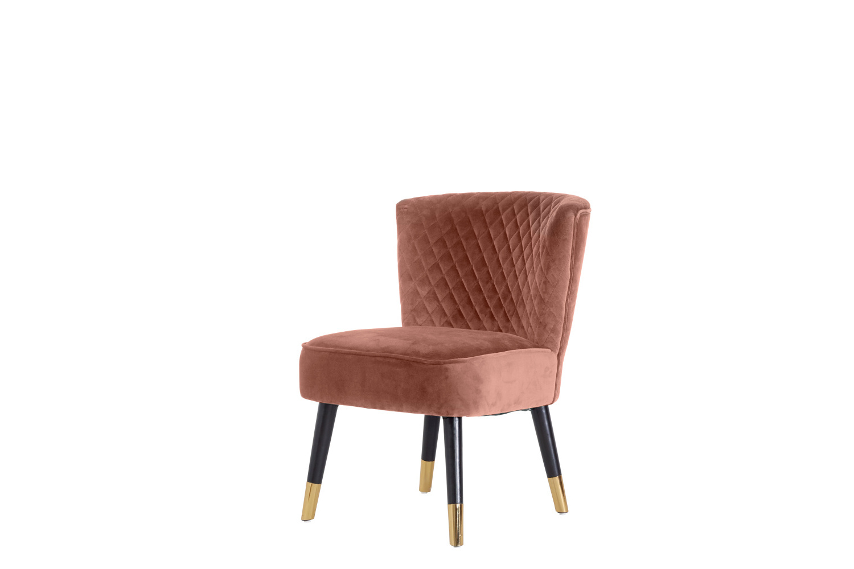 Designové křeslo Anabella růžový samet