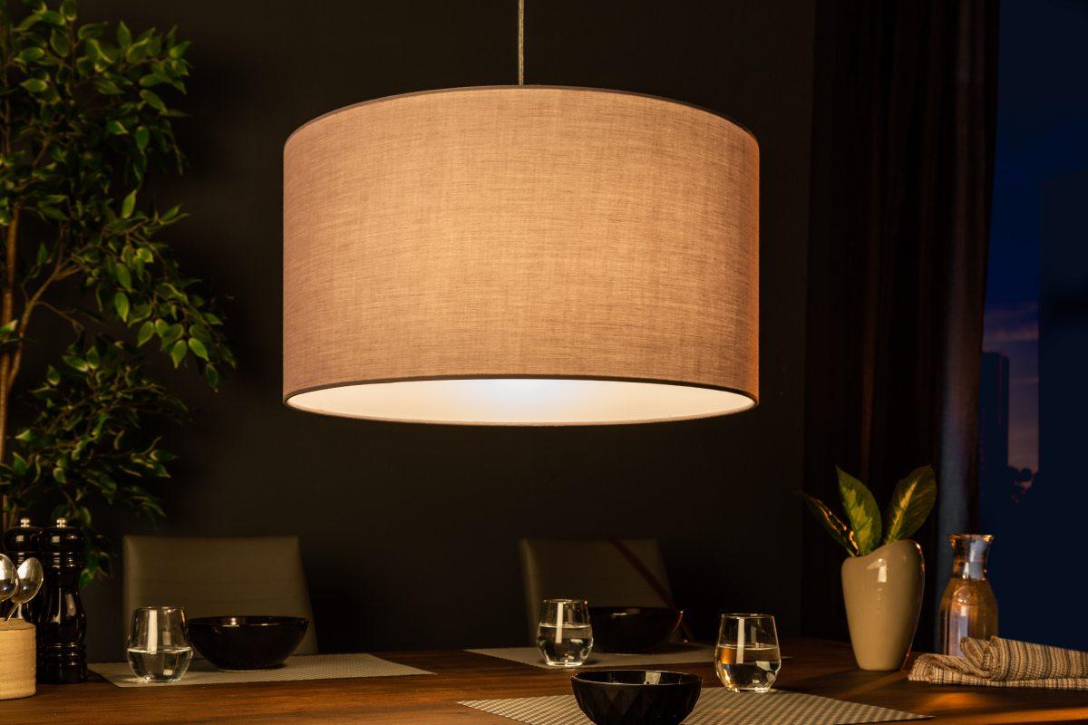 Designové závěsné světlo Nash, 50 cm, šedé - Skladem (RP)