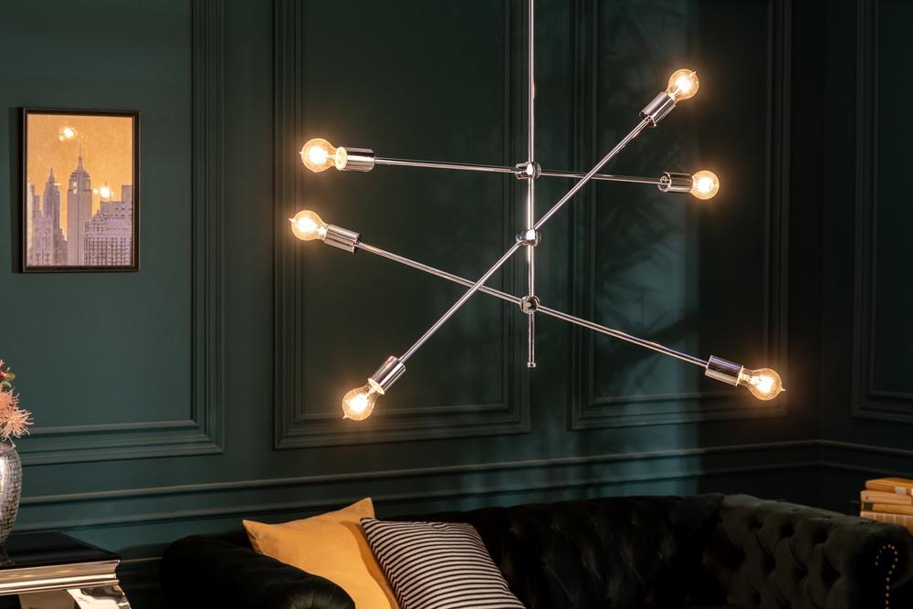 Designové závěsné svítidlo Walter stříbrné - Skladem (IN)