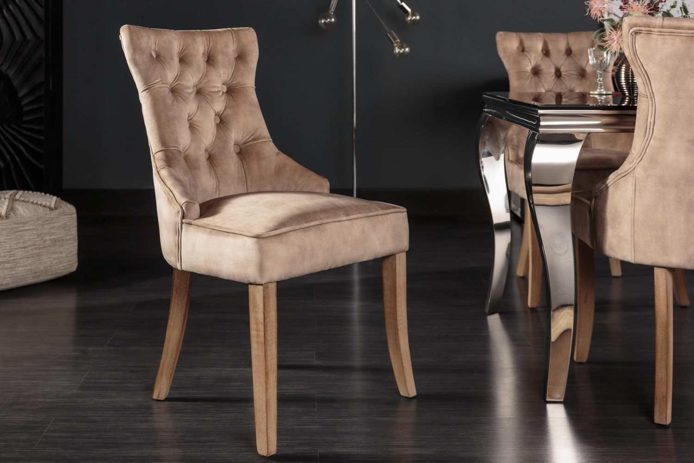 Designová židle Queen samet kávová