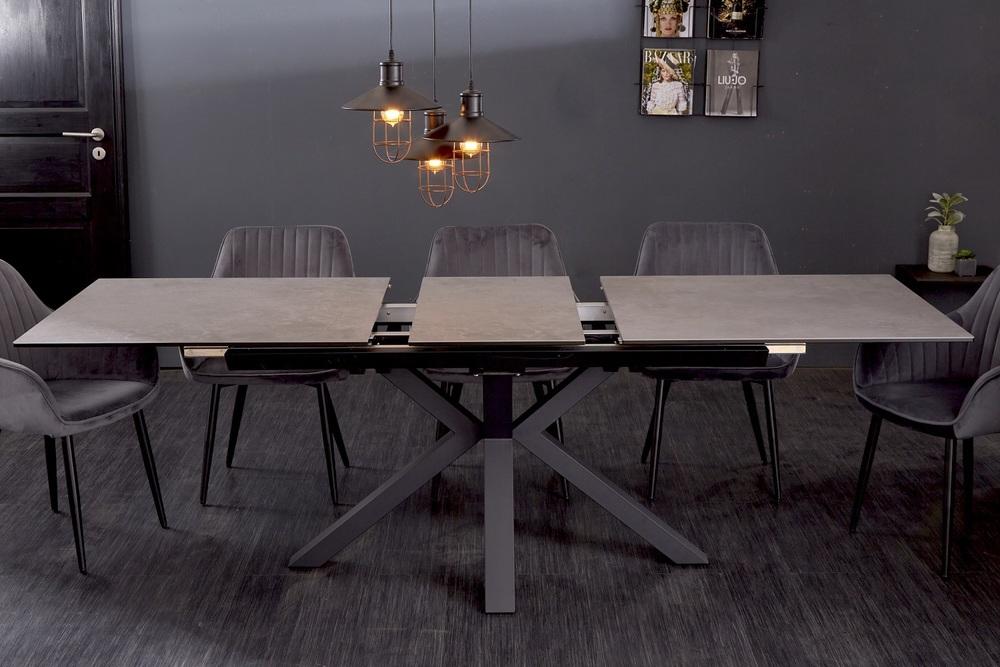 Designový jídelní stůl Age 180-225 cm keramika beton