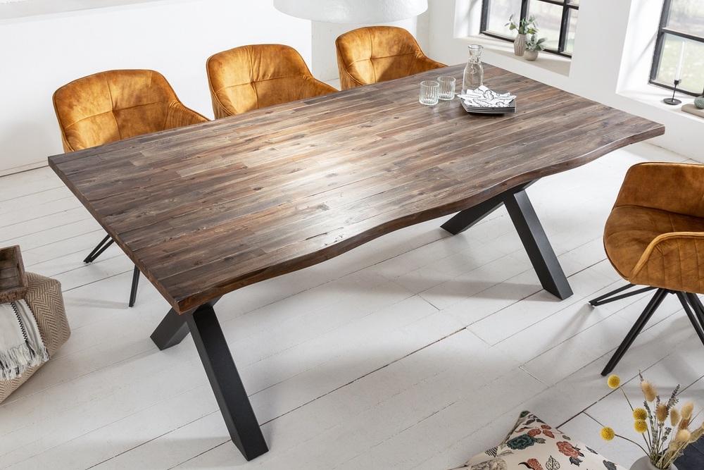 Designový jídelní stůl Evolution 200 cm hnědý / akácie