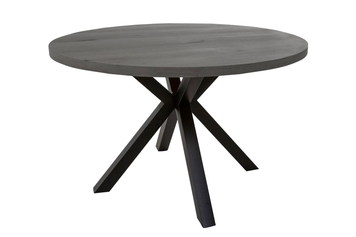 Designový jídelní stůl Madie tmavé šedý kulatý 120cm