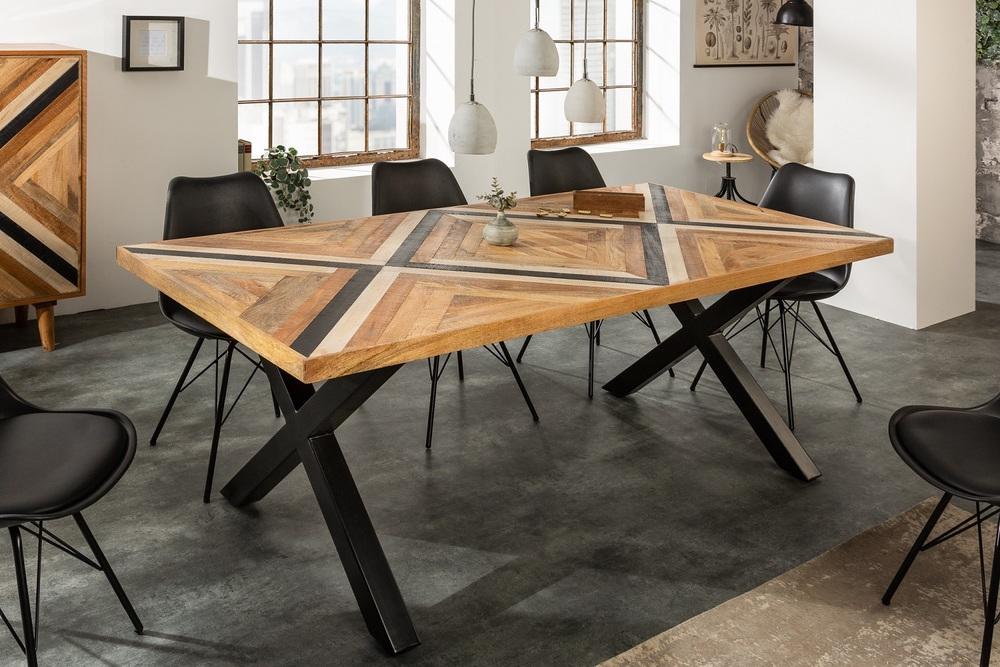 Designový jídelní stůl Rodney 160 cm černý / mango