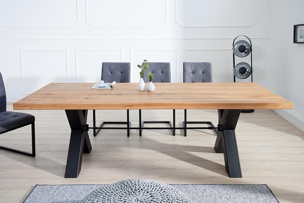 Designový jídelní stůl Thunder 240 cm divý dub