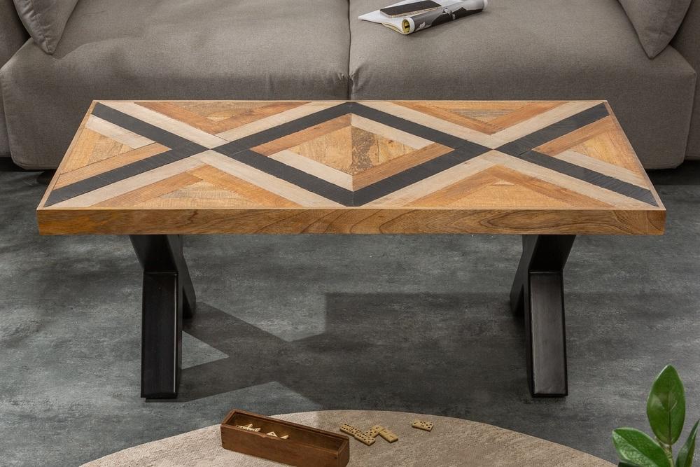 Designový konferenční stolek Rodney 110 cm černý / mango
