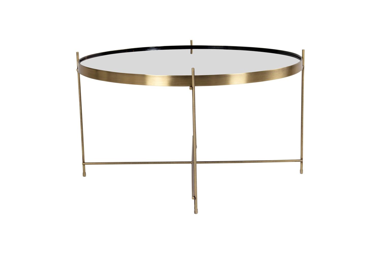 Designový konferenční stolek Tatum 70 cm zlatý-černý - otevřené balení