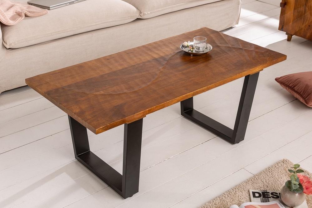 Designový konferenční stůl Shayla 110 cm hnědý / mango