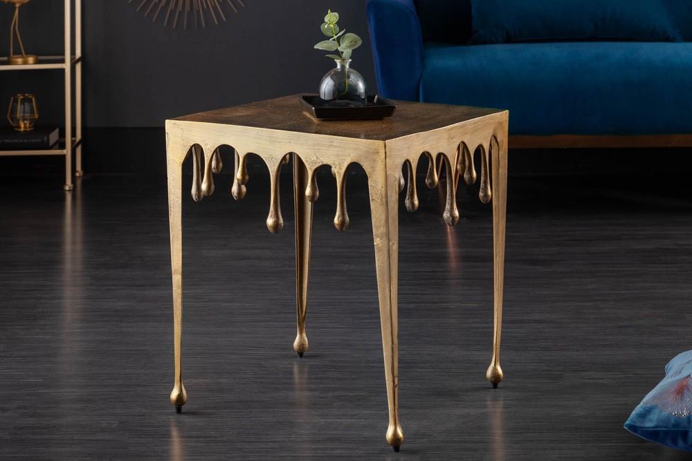 Designový odkládací stolek Gwendolyn L 50 cm zlatý