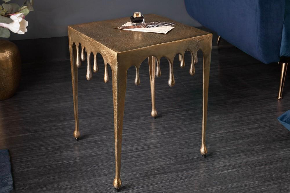 Designový odkládací stolek Gwendolyn S 44 cm zlatý