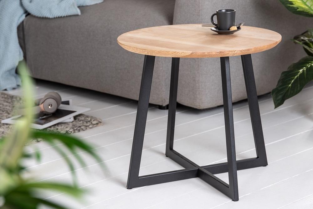 Designový odkládací stolek Hansa 50 cm dub