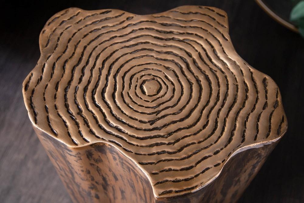 Designový odkládací stolek Malia Organic zlatý
