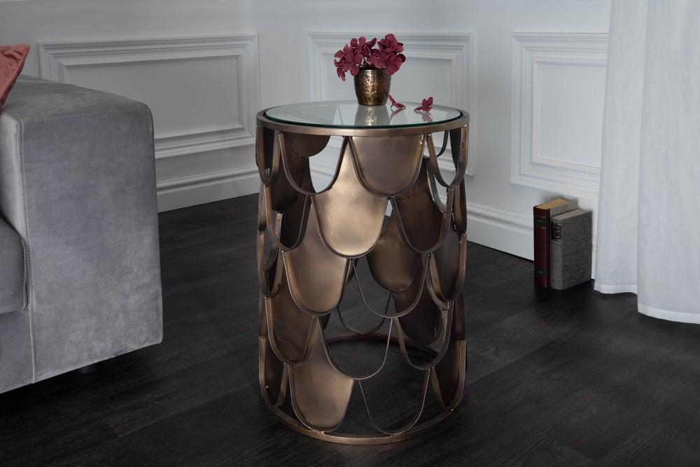 Designový odkládací stolek Pablo 40 cm mosaz