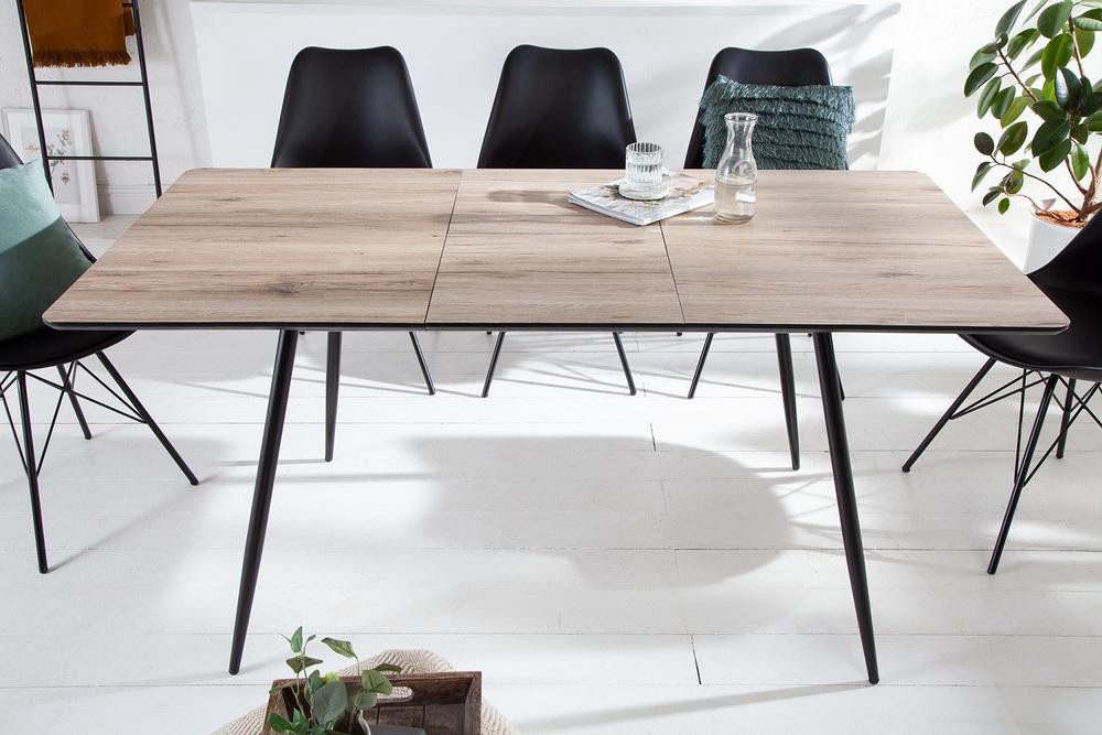 Designový roztahovací jídelní stůl Nathalie 120-160 cm přírodní šedý