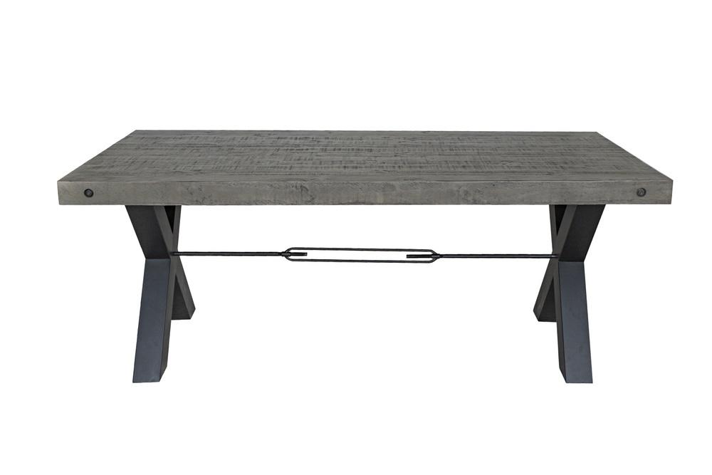 Designový jídelní stůl Thunder 200 cm šedý - borovice