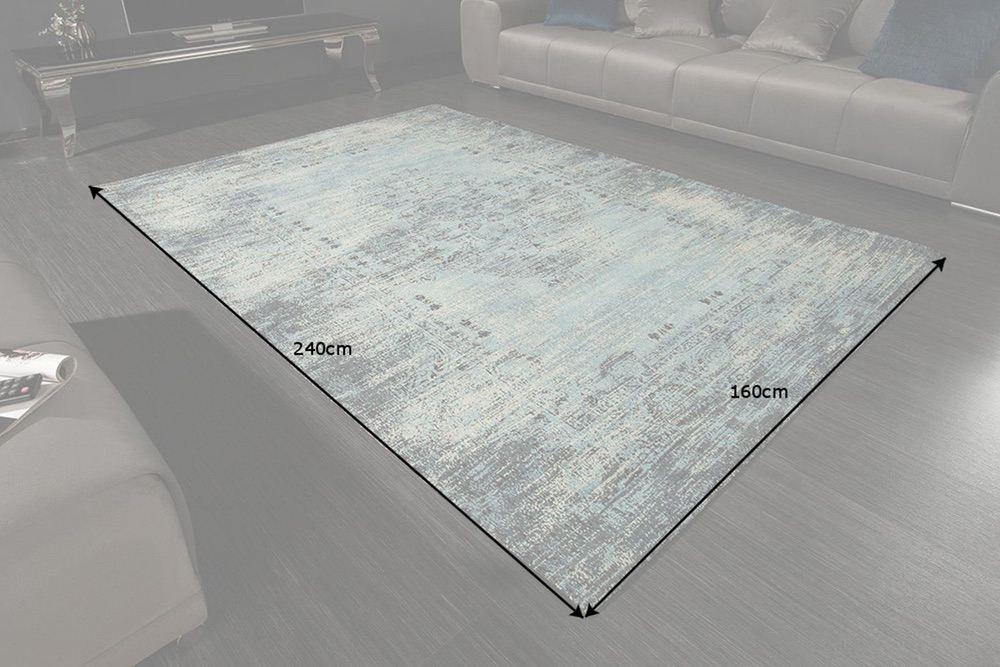 Designový koberec Saniyah 240 x 160 cm tyrkysově-modrý
