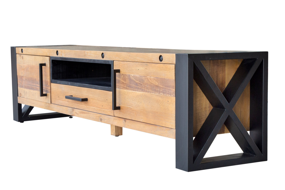 Designový TV stolek Thunder 200 cm borovice