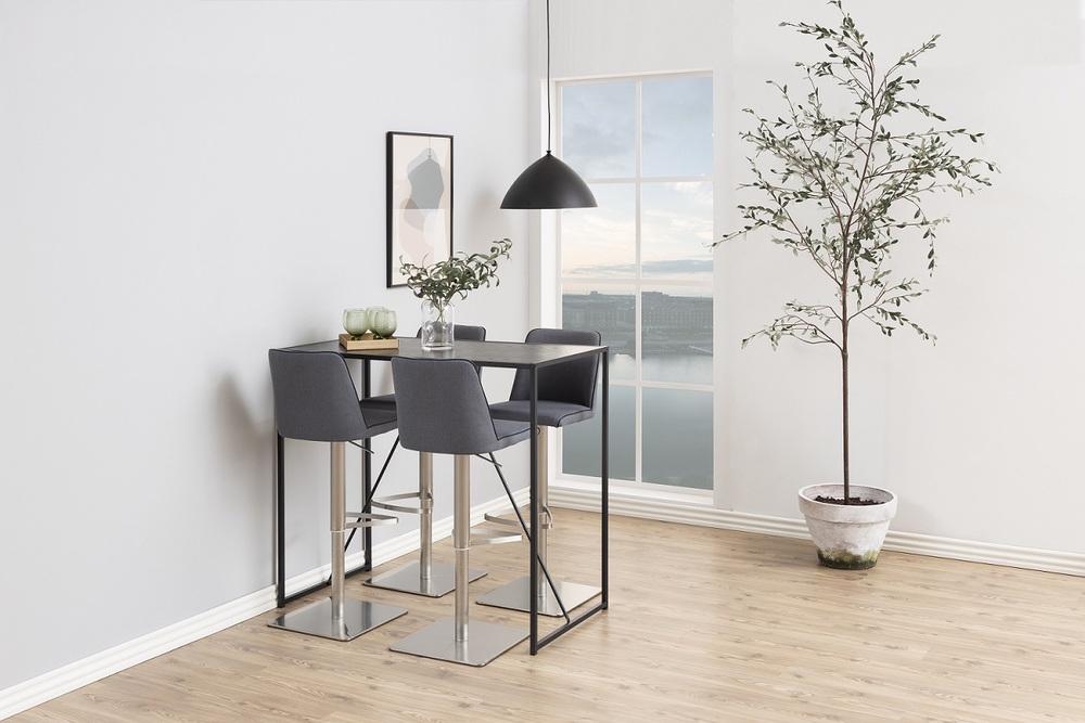 Designová barová židle Alasdair tmavě šedá