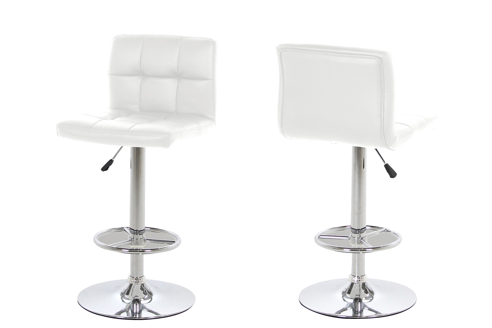 Designová barová židle Alban bílá