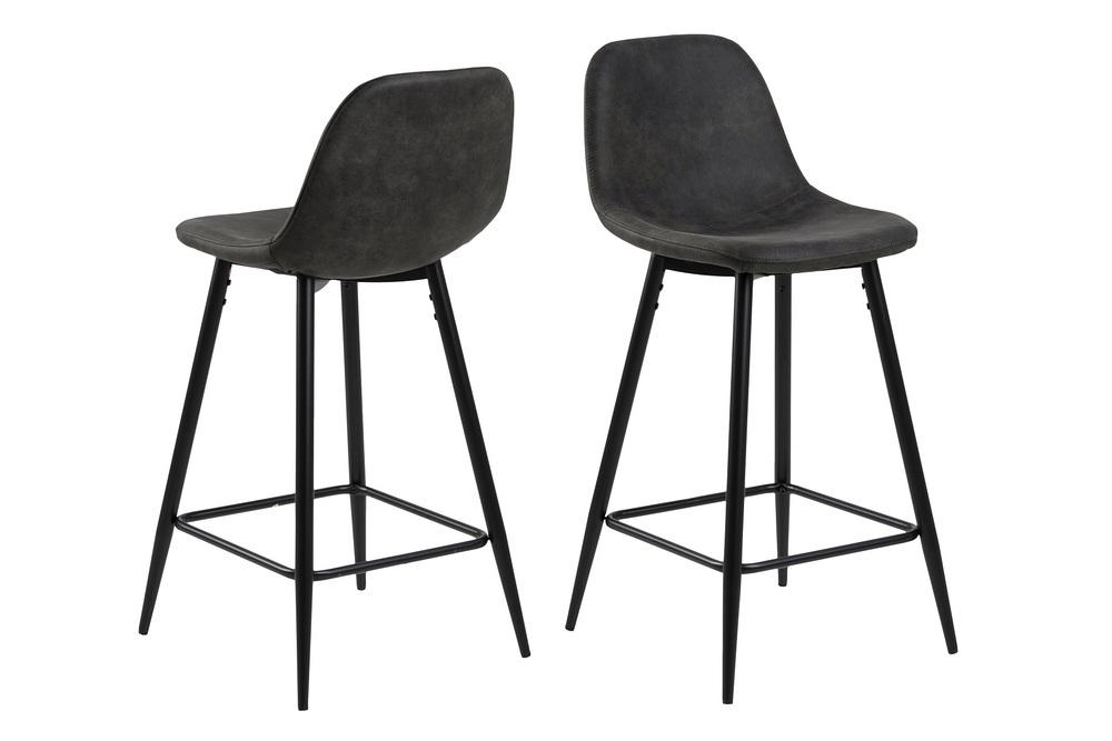 Designová barová židle Alphonsus antracitová